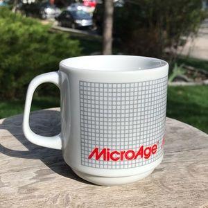 RARE! Vintage Microage coffee mug cup ceramic